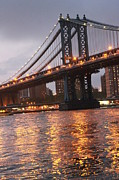 Nina Mirhabibi Photo Metal Prints - Manhattan Bridge Metal Print by Nina Mirhabibi