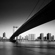 Black Photo Prints - Manhattan Bridge Print by Nina Papiorek