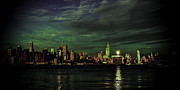 New York City Skyline Framed Prints - Manhattan Reflections Framed Print by David Hahn