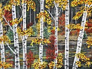 Manitoba Birch  Print by Lynn Huttinga