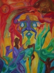 Figures Pastels - Mann i the middle by Sitara Bruns