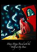 Freedom Paintings - Many Moons Passed with the Wolf at My Door by Angela Treat Lyon