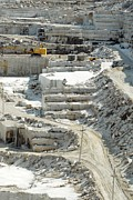 Marble Photos - Marble Quarrying by Ria Novosti