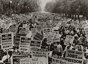 Race Discrimination Prints - March On Washington. African Americans Print by Everett