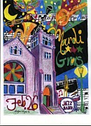 Mardi Gras Paintings - Mardi Gras by Rodger Ellingson