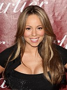 Mariah Carey Prints - Mariah Carey At Arrivals For 21st Print by Everett