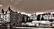 Architektur Metal Prints - Marianske Lazne ... Metal Print by Juergen Weiss