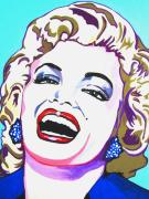 Actress Mixed Media Metal Prints - Marilyn Metal Print by Colleen Kammerer