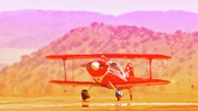 Biplane Originals - Marilyn Dash and Pitts Race 4 Ruby by Gus McCrea
