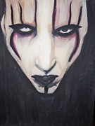 Marilyn Manson Framed Prints - Marilyn Manson Framed Print by Crystal  Rickman