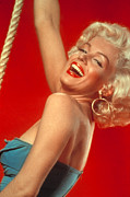Hoop Earrings Posters - Marilyn Monroe, C. Mid-1950s Poster by Everett