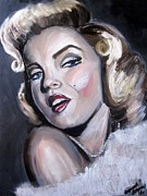 Actors Painting Originals - Marilyn Monroe by Hannah Ostman