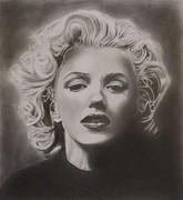 Munroe Drawings Metal Prints - Marilyn Monroe Metal Print by Mike OConnell