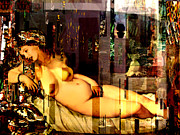 Karine Percheron-daniels Prints - Marilyn Monroe Nude in opium house Print by Karine Percheron-Daniels
