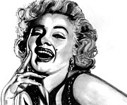 Passion Drawings Posters - Marilyn Monroe Poster by Ralph Harlow