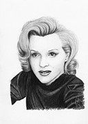 Actors Drawings Originals - Marilyn Monroe by Rosalinda Markle