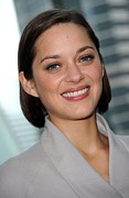 Natural Makeup Posters - Marion Cotillard At Arrivals For Bike Poster by Everett