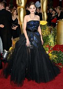Academy Awards Oscars Prints - Marion Cotillard Wearing A Christian Print by Everett