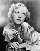 Puffy Sleeves Framed Prints - Marion Davies, 1935 Framed Print by Everett