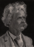 Writer Drawings Metal Prints - Mark Twain Metal Print by Troy Harris
