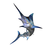 Digitally Generated Image Art - Marlin by Corey Ford