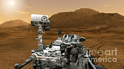 Artist Rendering Posters - Mars Rover Curiosity, Artists Rendering Poster by NASA/Science Source