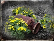 Thomas Vanselus Digital Art - Marsh Marigolds by The Stone Age