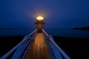 Maine Lighthouses Photo Posters - Marshall Point Light Station Poster by John Greim