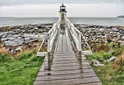 Maine Shore Framed Prints - Marshalls Point Lighthouse Framed Print by Jack Schultz