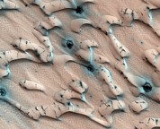 Sand Dunes Prints - Martian Sand Dunes, Satellite Image Print by Nasajpluniversity Of Arizona