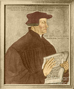 Clergyman Framed Prints - Martin Luther, German Theologian Framed Print by Photo Researchers, Inc.