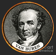 Van Buren Framed Prints - Martin Van Buren Framed Print by Photo Researchers
