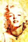 Marylin Framed Prints - Marylin Monroe  Framed Print by Juan Jose Espinoza