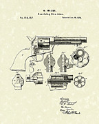Fire Arm Framed Prints - Mason Revolving Fire-Arm 1875 Patent Art Framed Print by Prior Art Design
