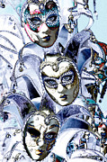 Mardis Posters - Masquerade Poster by Shelly Stallings