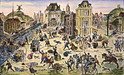 Discrimination Metal Prints - Massacre Of Huguenots Metal Print by Granger