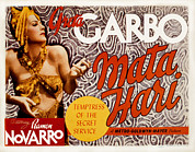 Hari Framed Prints - Mata Hari, Greta Garbo, 1931 Framed Print by Everett
