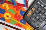 Ruler Posters - Mathematics Tools Poster by Photo Researchers, Inc.