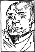 Self-portrait Drawings - Max Beckmann Self Portrait Copy by Edgeworth Johnstone