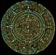 2012 Digital Art Framed Prints - Mayan Calendar Framed Print by Randall Arthur