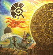 Santana Mixed Media - Mayan Predictions 2012 by Joe Santana
