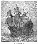 1620 Prints - Mayflower At Sea, 1620 Print by Granger