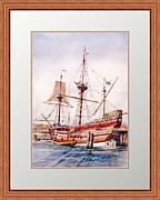 Water Vessels Paintings - Mayflower II by P Anthony Visco