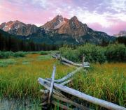 Old Fence Framed Prints - Mcgown Peak Framed Print by Leland Howard