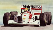 Shell Art Framed Prints - McLaren - Ayrton Senna Framed Print by Oleg Konin