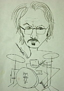 Drummer Drawings Metal Prints - Me Metal Print by Pete Maier