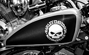 Harley Davidson Photos - Mean Machine by David Lee Thompson