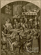 Accountant Photos - Medieval Accountants, 1466 by Science Source