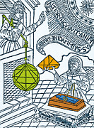1493 Posters - Medieval Mathematicians Poster by Science Source