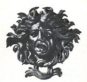Woman Head Sculpture Prints - Medusa Head Print by Photo Researchers